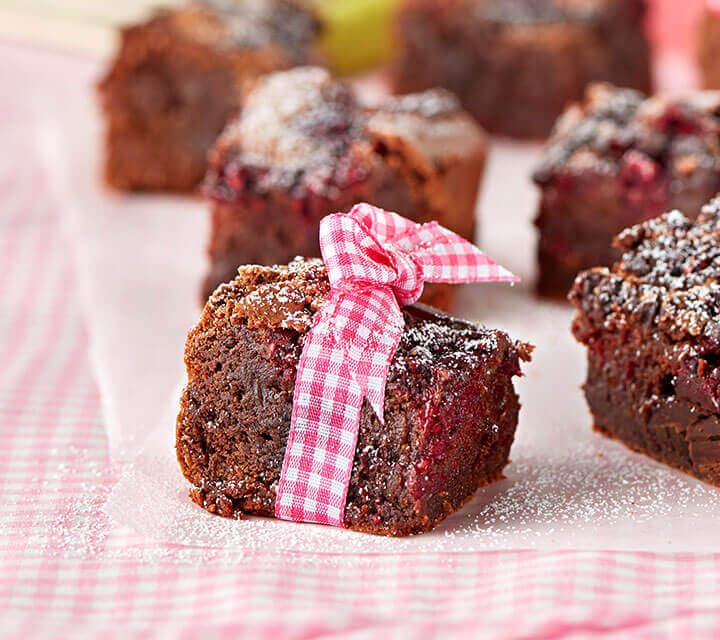 Baby Shower food ideas - Raspberry Chocolate Brownies