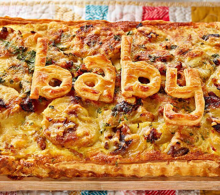 Baby Shower food ideas - Caramelised Leek and Potato Flan