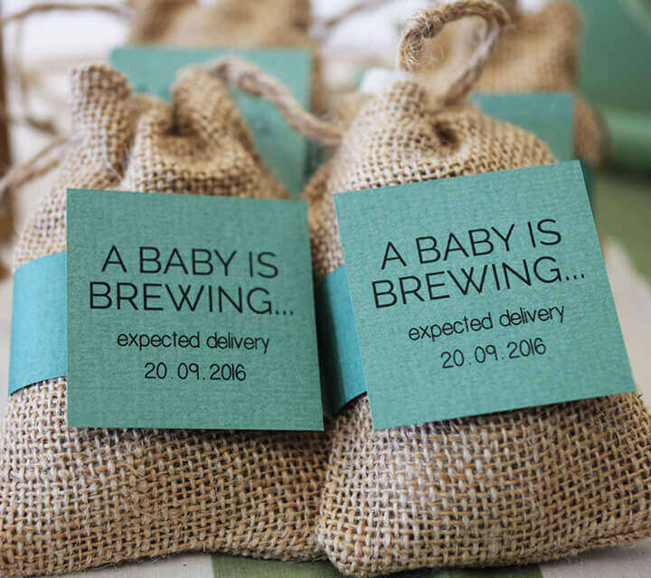 Baby Shower Favours - 'A Baby is Brewing' Tea Bags