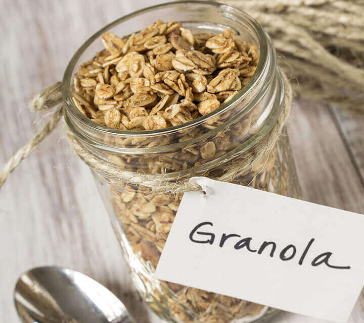 Baby Shower Favours - Homemade Granola for Grumbling Tummies