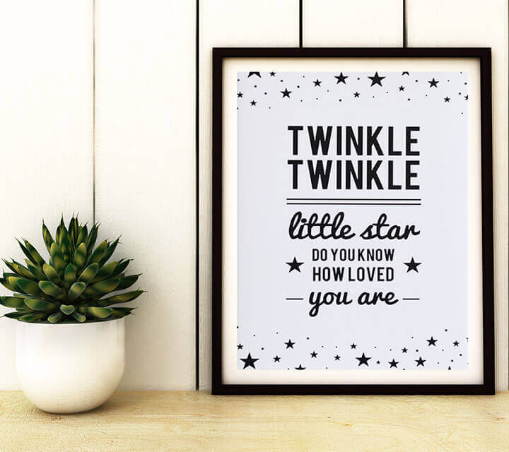 Baby Shower Decorations - Framed Quote