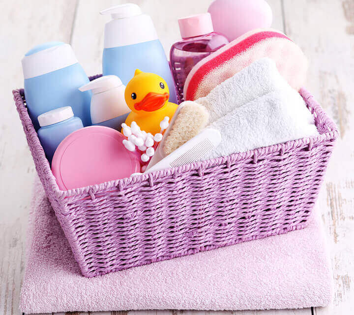 Baby Shower gift ideas - Baby bath product bouquet