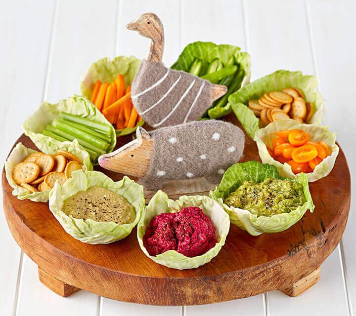 Baby Shower food ideas - Farmyard Animal Dips