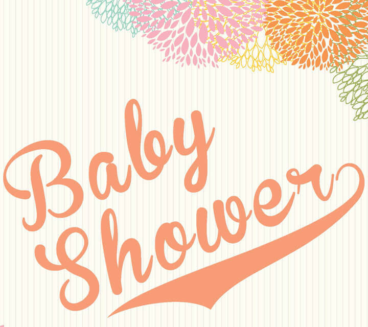 Baby Shower floral downloadable invitation