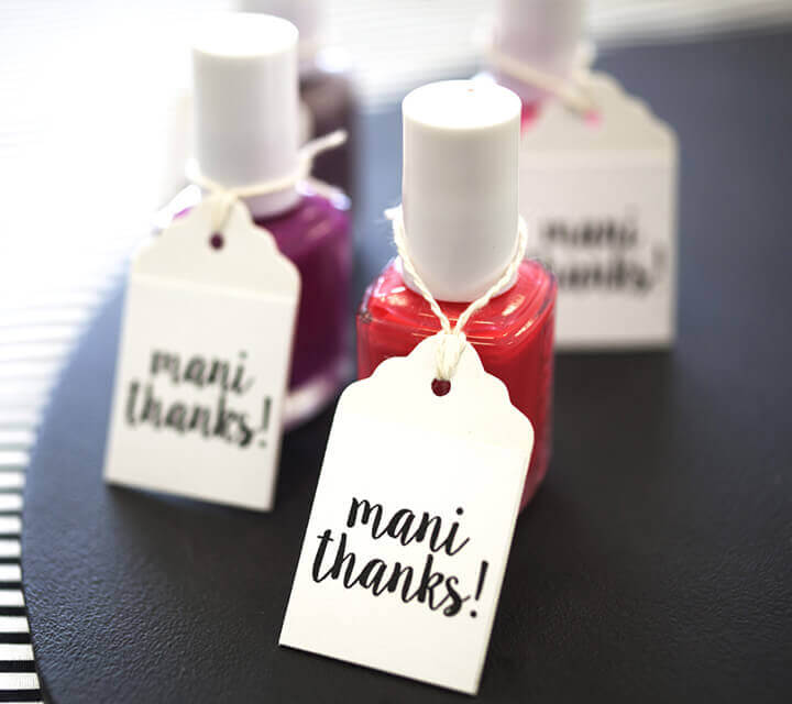 Baby Shower Favours - 'Mani Thanks' nail polish