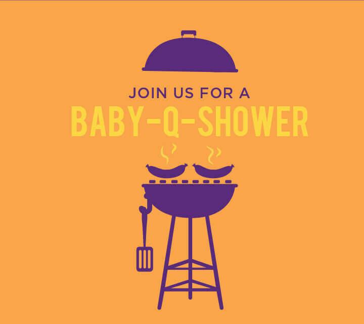 Baby Shower downloadable Invitations - backyard Baby-Q bash