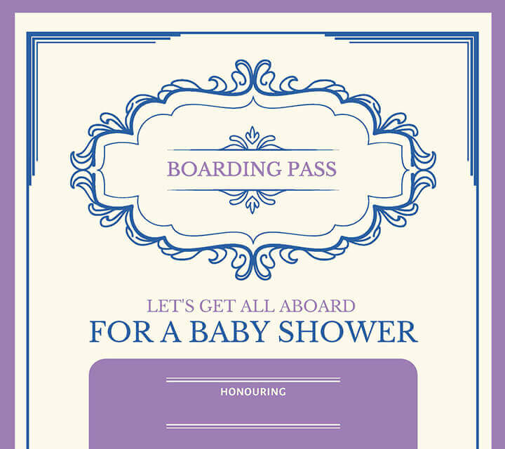 Baby Shower downloadable Invitations - All aboard!