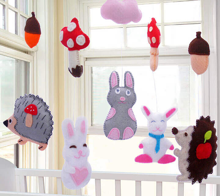 Baby Shower Decorations - Magical mobiles