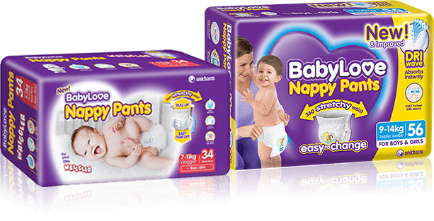 Nappy Pants Wriggler & Junior sized pack shots