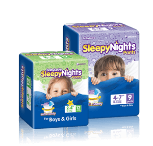 BabyLove SleepyNights pants pack shots