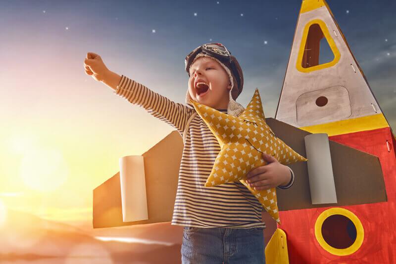 Children have a vivid imagination