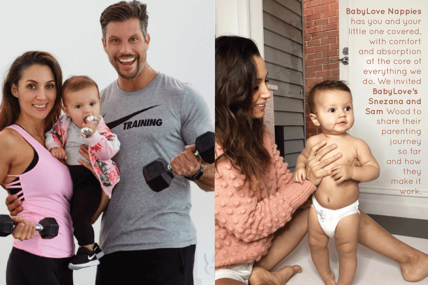 BabyLove's Snezana and Sam Wood's parenting journey